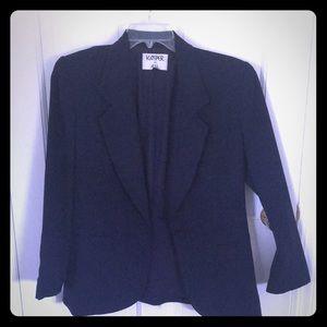 Navy blue suit jacket.